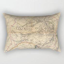 Map Of South Africa 1875 Rectangular Pillow