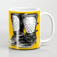 motorcycle Mugs featuring Motorcycle by bike51design