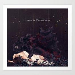 Hades & Persephone Reylo Art Print