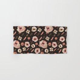 Bohemian rose floral Hand & Bath Towel