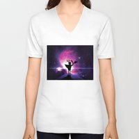 universe V-neck T-shirts featuring Universe by Lunzury