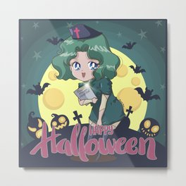 Happy Halloween Michiru Metal Print