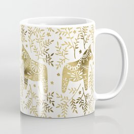 Swedish Dala Horses – Gold Palette Coffee Mug
