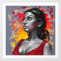 Paola- Red Paint Art Print