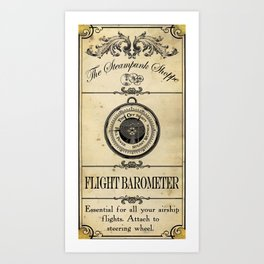 Steampunk Apothecary Shoppe - Barometer Art Print