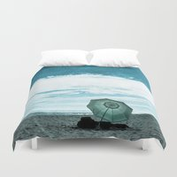 alone Duvet Covers featuring Alone by Sandy Broenimann