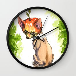 Apple Head Chihuahua Wall Clock
