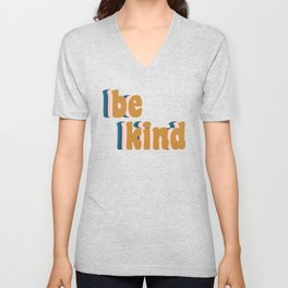 Be Kind Fun Retro Lettering Unisex V-Neck