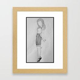 Secretary Femme. Framed Art Print
