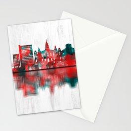 Lafayette Louisiana Skyline Stationery Cards