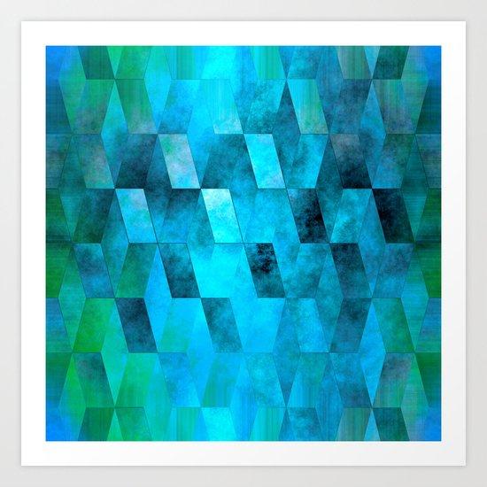 Stacked Sky (blue) Art Print