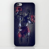 boxing iPhone & iPod Skins featuring DARK BOXING by Ptitecao
