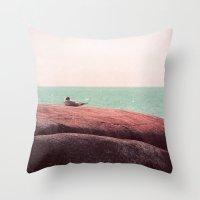 sleep Throw Pillows featuring sleep by Claudia Drossert