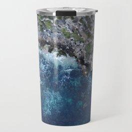 Rocky Ocean Aerial Travel Mug