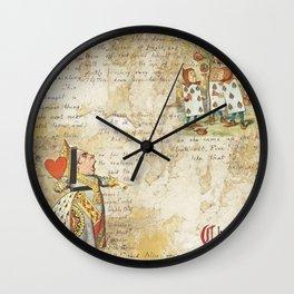 Alice Adventures Underground Queen of Hearts Wall Clock