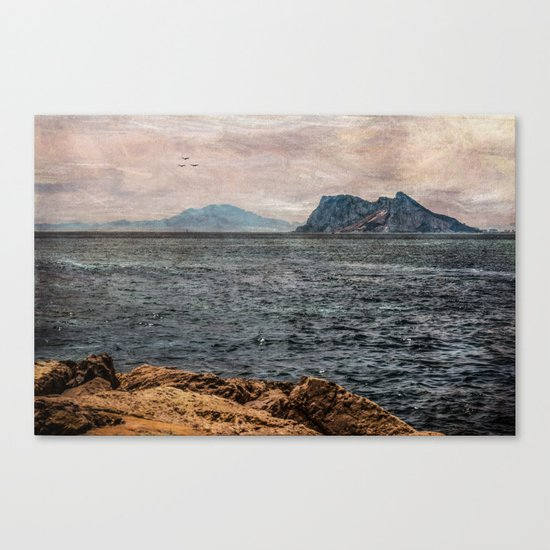 A view to the Rock of Gibraltar Canvas Print
