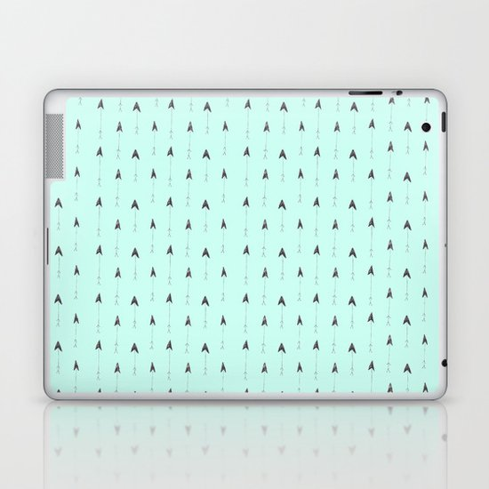 mint magic arrows Laptop & iPad Skin