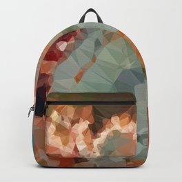 Turquoise Copper Agate Low Poly Geometric Triangles Backpack