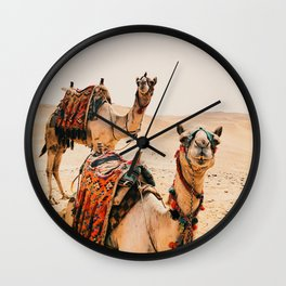 Camels Wall Clock