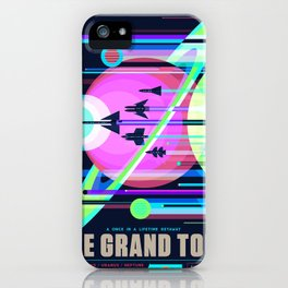 The Grand Tour NASA JPL Space Tourism Poster Kids Space Room Decor iPhone Case