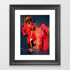 Rajasthani Performers Framed Art Print