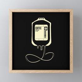 Coffee Transfusion - Black Framed Mini Art Print