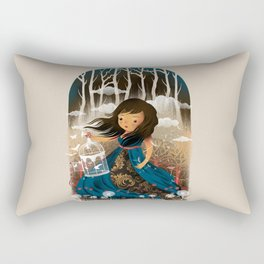 There Once Was A Girl In A Whimsical Land Rectangular Pillow