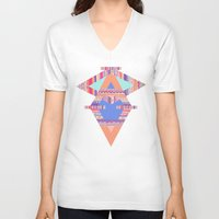 decal V-neck T-shirts featuring TRIBAL CRAYON / by Vasare Nar