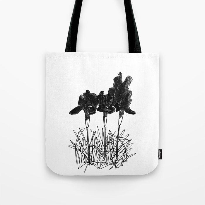 Dark Iris Tote Bag