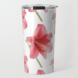 Amaryllis pattern Travel Mug