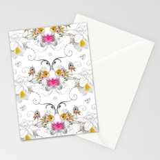Paper Flowers Stationery Cards
