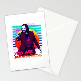Keanu Reeves - You are breathtaking! Stationery Cards