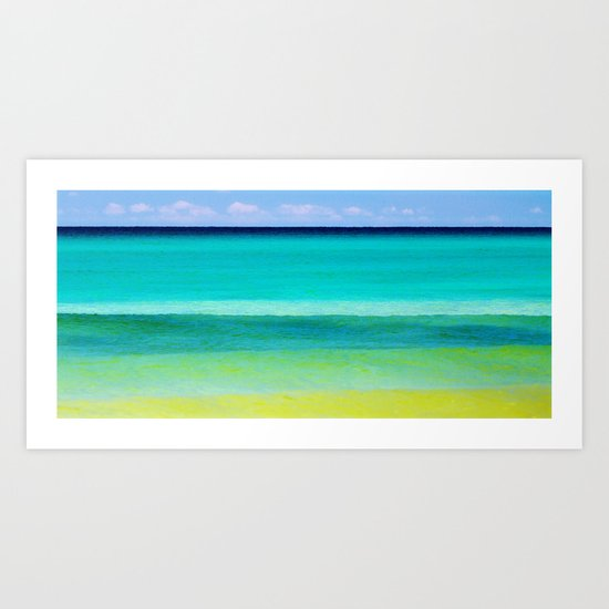the colors of the sea Art Print