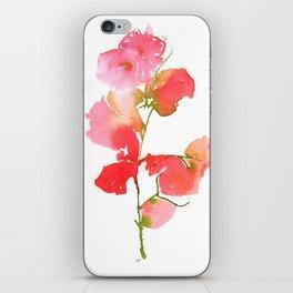 Bourgenvilla Flower Print iPhone Skin