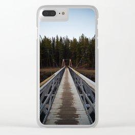 Miles Canyon Suspension Bridge Clear iPhone Case