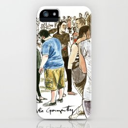 After it rained at McCarren Pool, we stopped and stared. I wish the moment lasted forever. iPhone Case