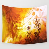 horses Wall Tapestries featuring Horses by Vitta