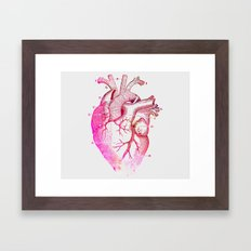 Anatomy Of The Heart Framed Art Print