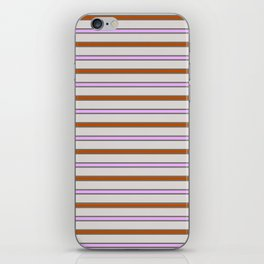 Classic disco stripes iPhone Skin