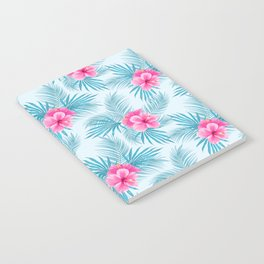 Pink Hibiscus on palms Notebook