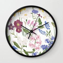 Spring Flowers Wall Clock