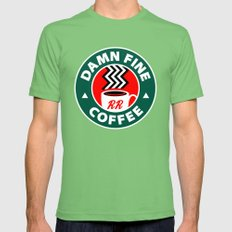 Damn Fine Coffee Twin Peaks Grass LARGE Mens Fitted Tee