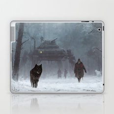 winter walk through the woods Laptop & iPad Skin