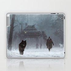 winter walk through the woods Laptop & iPad Skin