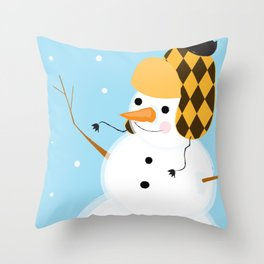 Stay Frosty Throw Pillow