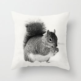 Squirrel Animal Photography Throw Pillow