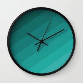shades of green blue pattern Wall Clock