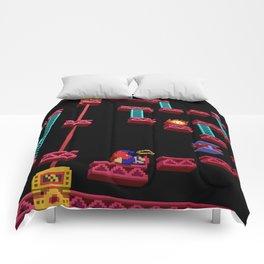 Inside Donkey Kong stage 3 Comforters