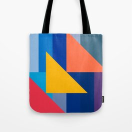 Abstract Art Minimalist Red Yellow Orange and Blue Tote Bag