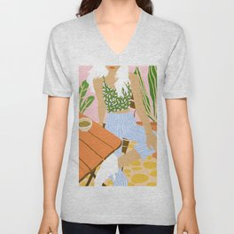 Kawa Tea #illustration #fashion Unisex V-Neck